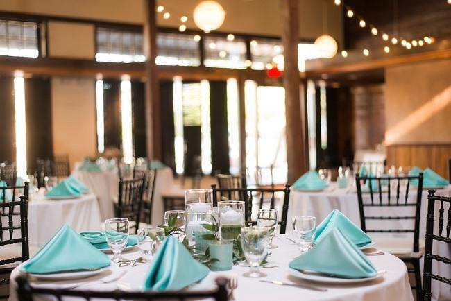 indoor reception at Palafox Wharf