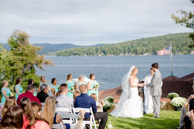 outdoor ceremony on Lake George