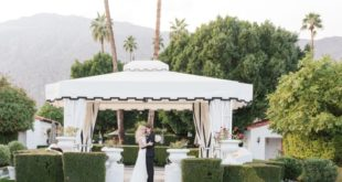 outdoor tent at Avalon Hotel Palm Springs