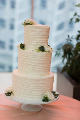 simple three tier wedding cake