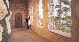 styled couple at Cherokee Castle