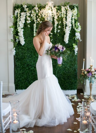 styled shoot model in gown