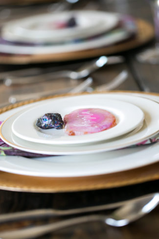 styled shoot rare earth minerals on plates
