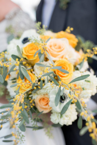 styled yellow and white bouquet