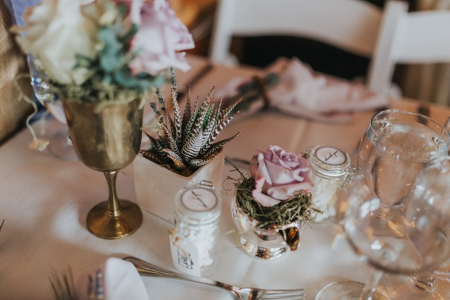 table decor and glasses