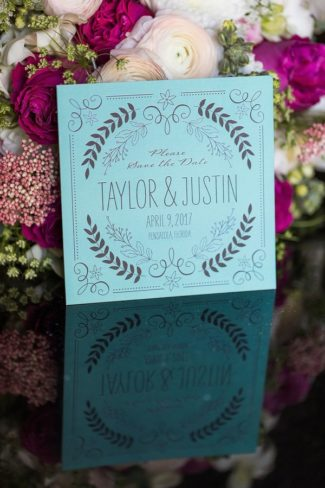 tiffany blue save the date from WPD