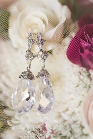 vintage lookng crystal earrings