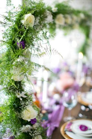 white roses in arbor