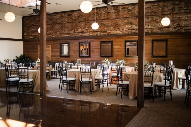 Palafox wharf reception setting