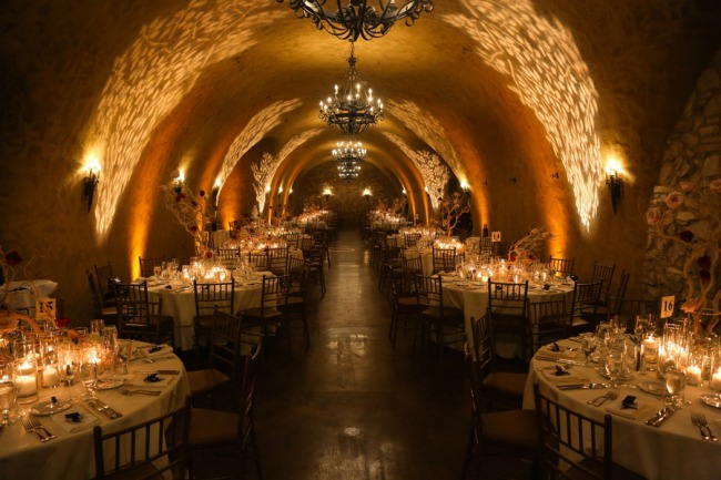 cave reception at Meritage Winery