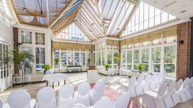 conservatory room at Kasteel Maurick