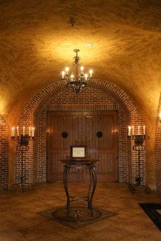 interior entrance at wine cave