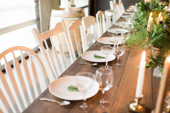 styled greenery table scape