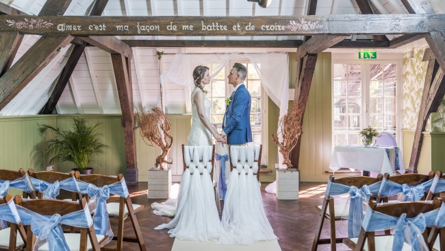 styled reception at Kasteel Maurick