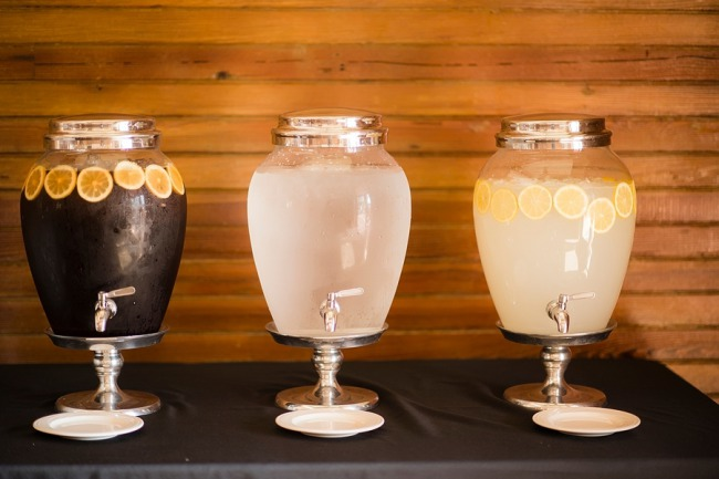 three drink dispensers