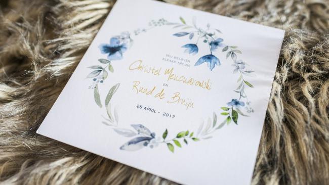 watercolor invite design