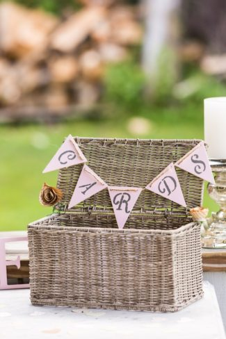 wicker basket for cards