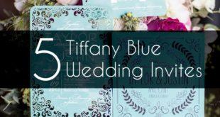 5 tiffany blue wedding invites feature