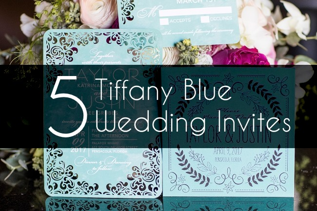 5 tiffany blue wedding invites feature