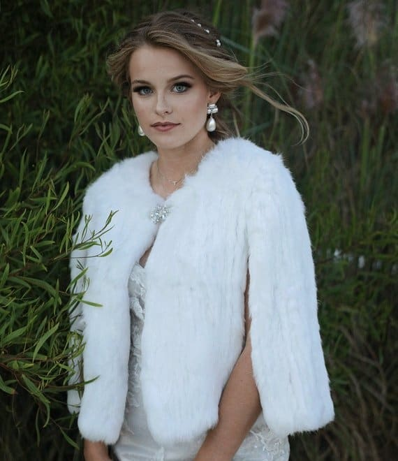 Chamonix Fur bridal Jacket