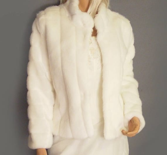 Faux fur bridal coat