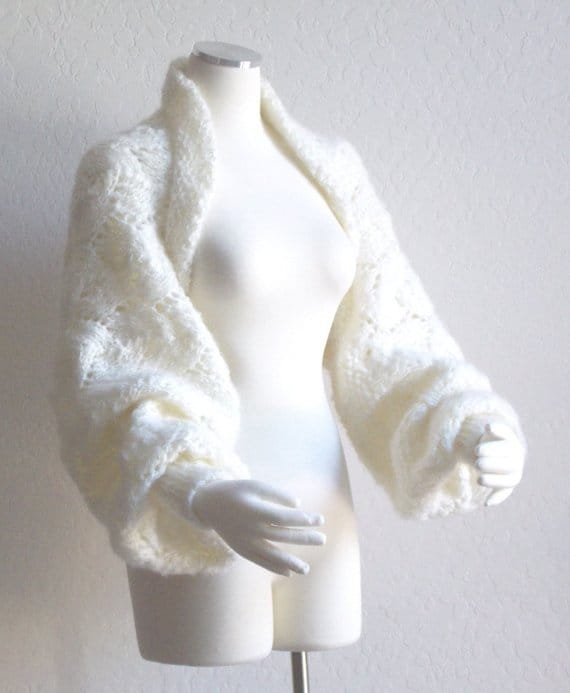 Hand Knit Bridal Shrug