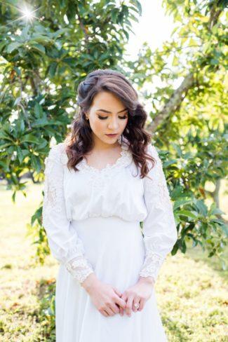 Honeygreen villa styled bride