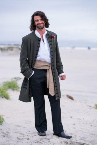 Jack Sparrow model on beach