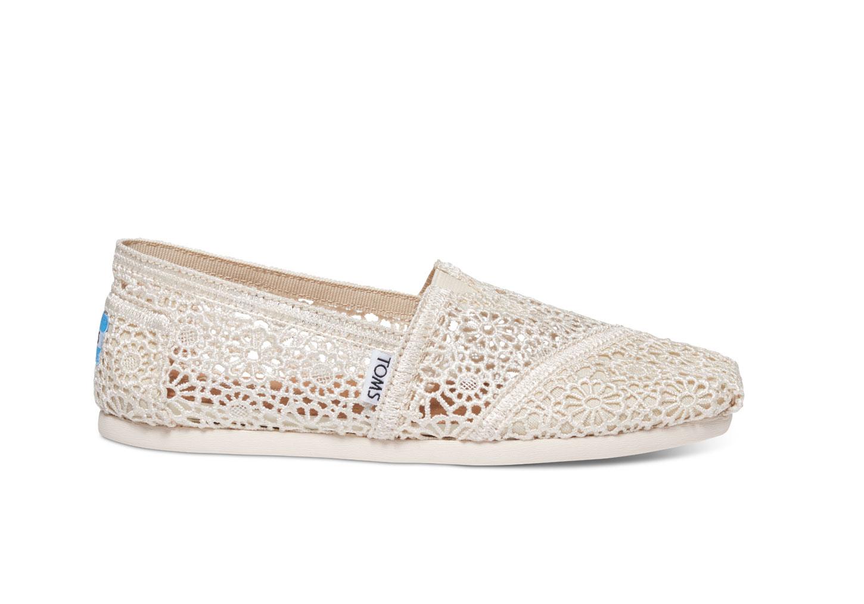 Toms Shoes White Crochet
