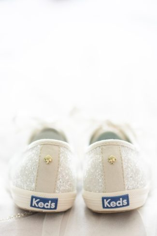 back of Keds bridal shoes