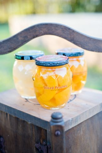 bottles of sliced peaches