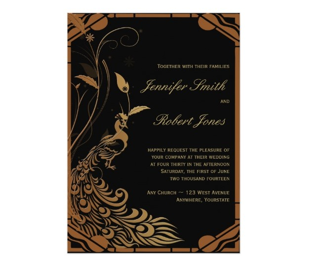 bronze_art_deco_peacock_floral_wedding_invitation