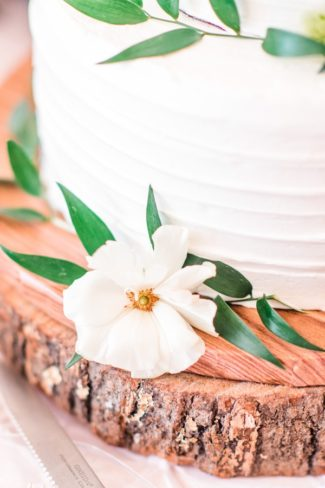 cake decor and wood round