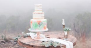 cake with foggy background