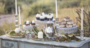 dessert table in the Arizona desert