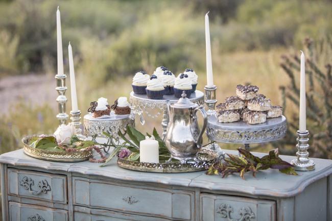 dessert table in the Arizona desert
