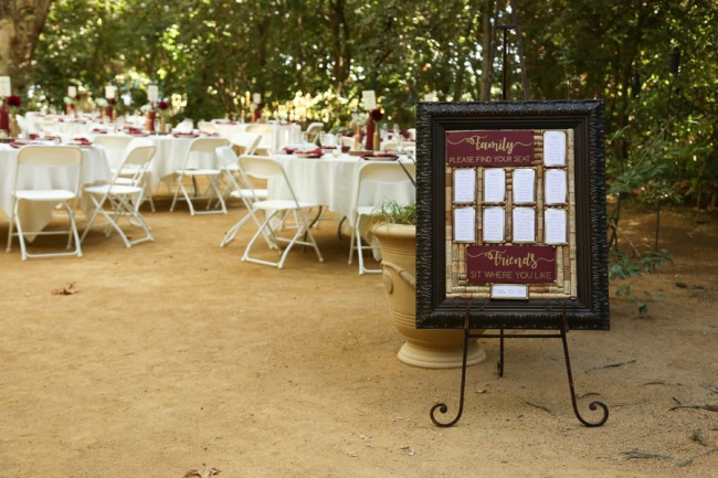 easel with giant table seating sign