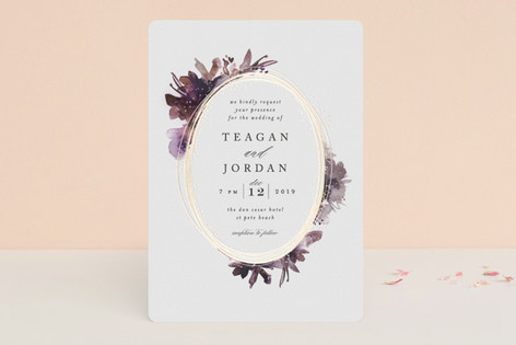 framed watercolor design invite