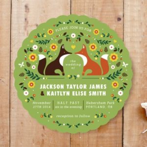 grass color woodland invite