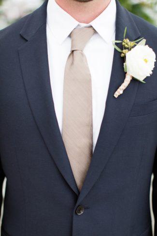 groom in necktie