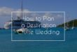 how to plan a destination cruise wedding