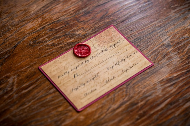 invite with wax seal