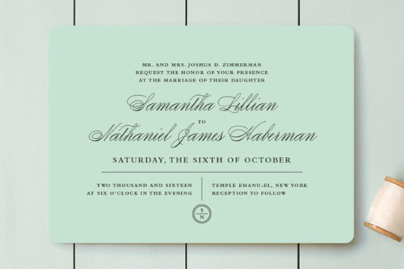 5 Tiffany Blue Wedding Invitations To Make Holly Golightly Beam