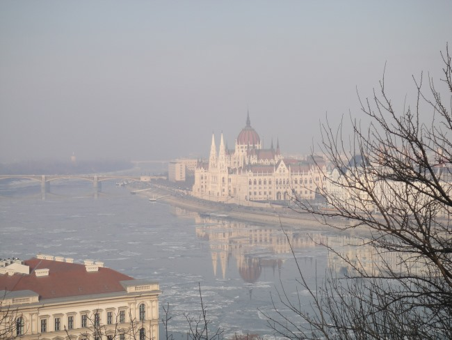 original view of budapest river photo