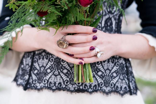 oversized gemstone ring