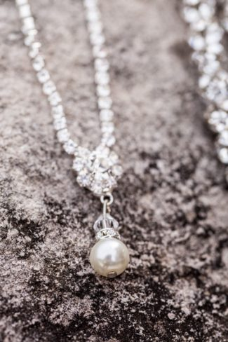 pearl on necklace