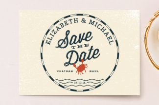 salty seas Minted save-the-date card