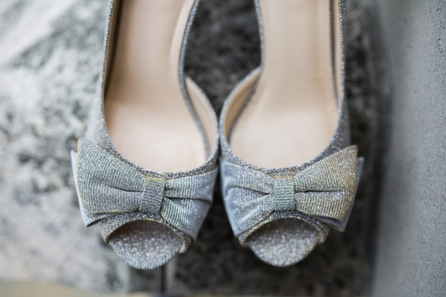 sparkly silver peep toe shoes