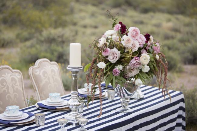 styled high tea in desert table