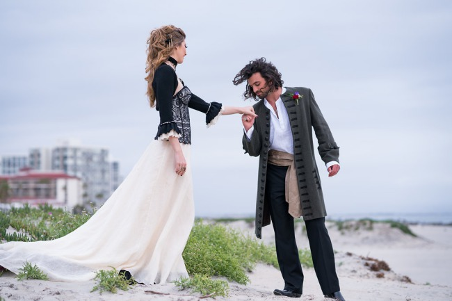 styled pirate couple
